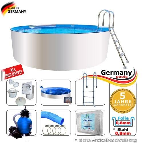 3,0 x 1,35 Schwimmbecken Set