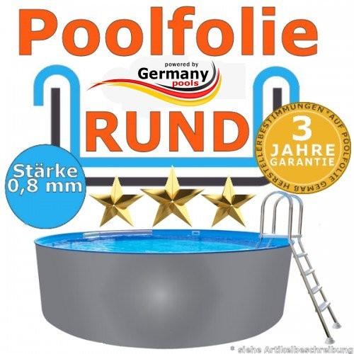 3,00 x 1,20 m x 0,8 Poolfolie rund bis 1,50 m