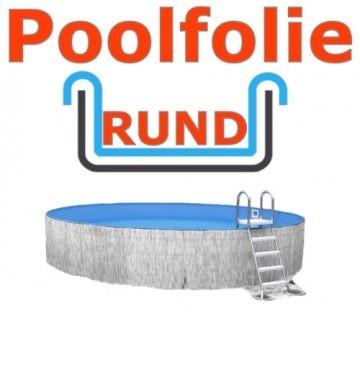 3,50 x 1,35 m x 0,8 mm Poolfolie rund mit Einhängebiese