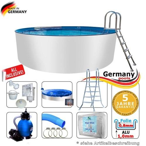300 x 125 Alupool Komplettset Aluminium-Pool