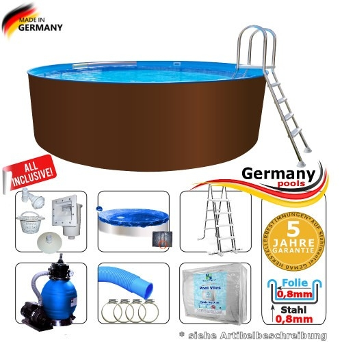 300 x 125 cm Stahl-Pool Set