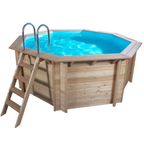 4,40 x 1,33 m Holzpool Holzbecken Pool rund Schwimmbecken Set