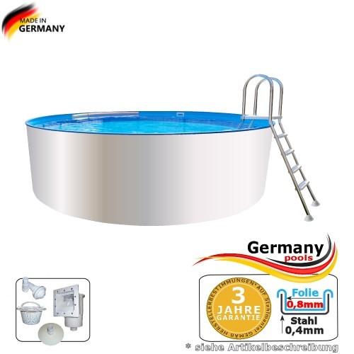4,60 x 0,90 m Poolbecken Weiss