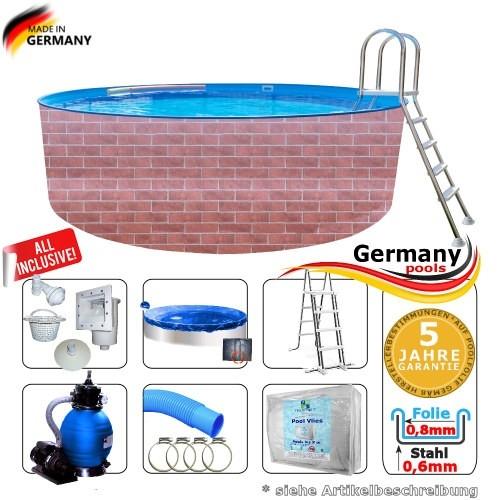 400 x 120 cm Poolset Gartenpool Pool Komplettset