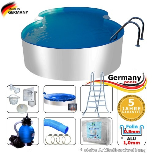 5-25-x-3-20-x-1-25-m-Aluminium-Achtformpool-Komplettset-Alu-Pool