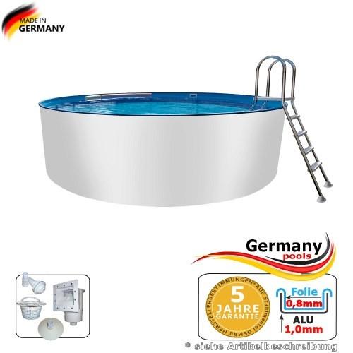 8,00 x 1,50 m Aluminium-Swimmingpool