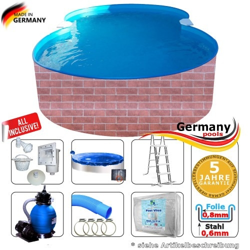 8-55-x-5-00-x-1-20-Pool-achtform-Achtformbecken-Set