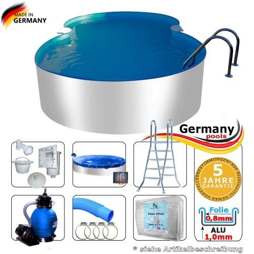 8-55-x-5-00-x-1-25-m-Aluminium-Achtformpool-Komplettset-Alu-Pool