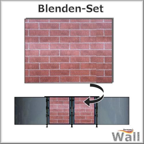Germany-Pools Wall Blende B Tiefe 1,20 m Edition Brick