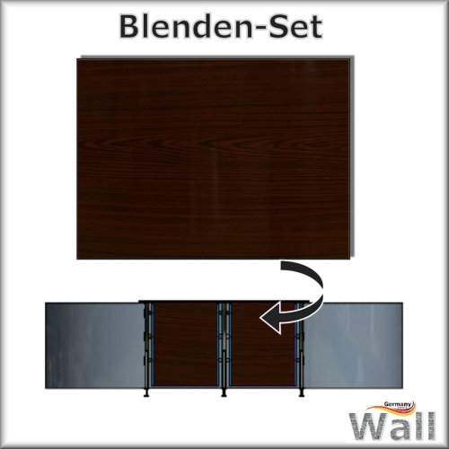 Germany-Pools Wall Blende B Tiefe 1,20 m Edition Dark-Wood