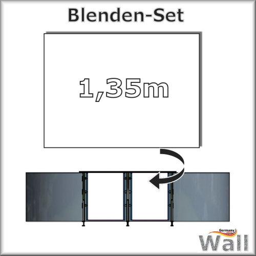 Germany-Pools Wall Blende B Tiefe 1,35 m Edition Alpha Weiß