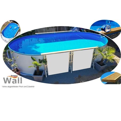 Ovalpool freistehend 7,15 x 4,00 m Germany-Pools Wall