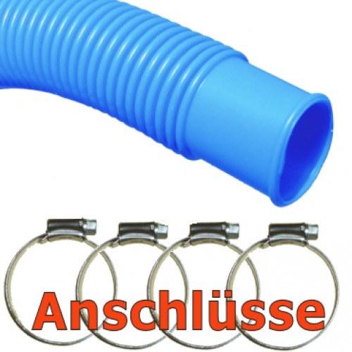 Pool-Anschluss-Set-Poolschlauch-und-Schellen