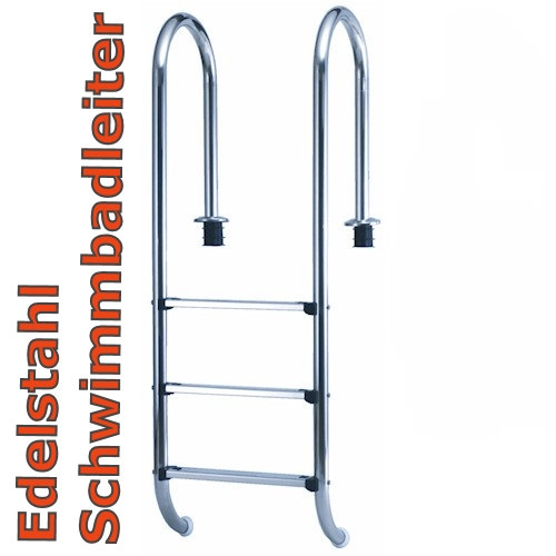 Schwimmbadleiter 3 Stufen Tiefbeckenleiter Poolleiter 3 Stufig eng