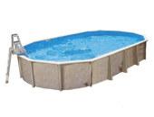 Oval-Pool-Aufstellbecken
