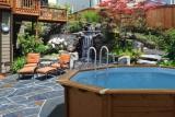 6,55 x 1,33 m Holzpool Holzbecken Pool rund Schwimmbecken Set