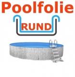 4,50 x 1,20 m x 0,8 mm Poolfolie rund mit Einhängebiese