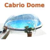 4,60 m Poolabdeckung Cabrio-Dome Breiter Handlauf