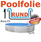 Poolfolie Rundbecken 3,5 x 1,5 x 0,6 Innenfolie Keilbiese
