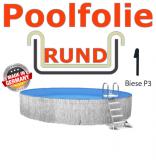Schwimmbadfolie 500 x 120 cm x 0,8 Keilbiese Sand
