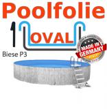 700x350x135 cm x 0,8 Poolfolie mit Keilbiese Ovalpool