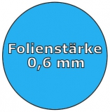 Poolfolie acht 6,25 x 3,60 x 1,50 m x 0,6 Achtformpool