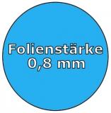 Poolfolie acht 7,25 x 4,60 x 1,50 m x 0,8 Folie Ersatz