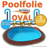 5,00 x 3,00 x 1,20 m x 0,8 Poolfolie bis 1,50 m
