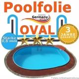 5,50 x 3,60 x 1,20 m x 0,8 Poolfolie bis 1,50 m