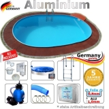 6,23 x 3,6 x 1,50 m Swimmingpool Alu Pool Komplettset