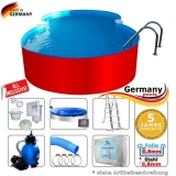 7,25 x 4,60 x 1,25 m Achtform-Swimmingpool Set Achtform-Pool
