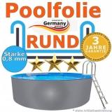 7,30 x 1,20 m x 0,8 Poolfolie rund bis 1,50 m