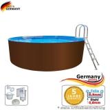 7,30 x 1,25 m Stahl-Pool