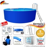 8,00 x 1,25 m Swimming Pool Komplettset