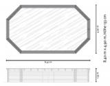 8,40 x 4,90 x 1,33 m Holzpool oval Holzbecken Pool