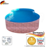 855 x 500 x 120 Pool achtform Achtform Pool Brick Ziegel