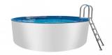800 x 125 Alupool Komplettset Aluminium-Pool