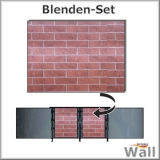 Germany-Pools Wall Blende B Tiefe 1,20 m Edition Brick