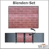Germany-Pools Wall Blende C Tiefe 1,20 m Edition Brick
