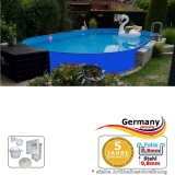 Ovalpool Blau 615 x 300 x 125 cm