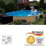 Ovalpool Holz Design 500 x 300 x 120 cm
