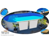 Ovalpool freistehend 7,15 x 4,00 m Germany-Pools Wall