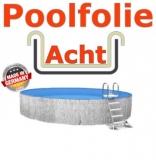 Poolfolie acht 5,25 x 3,20 x 1,20 m x 0,8 Folie Ersatz Sand