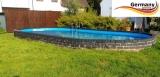 Ovalpool Stein 715 x 400 x 120 cm
