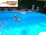 8,55 x 5,00 x 1,20 Pool achtform Achtformbecken Set