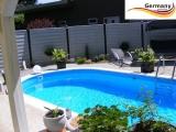 8,7 x 4,0 x 1,50 m Swimmingpool Alu Pool Komplettset