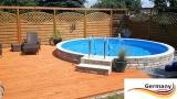 7,30 x 1,25 m Alupool Aluminium-Pool