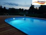 Ovalbecken Blau 5,25 x 3,2 x 1,25 m Komplettset