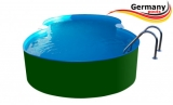 8,55 x 5,00 x 1,25 m Achtform-Stahlwandbecken Poolbecken