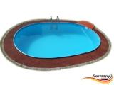 Ovalpool Grün 585 x 350 x 125 cm